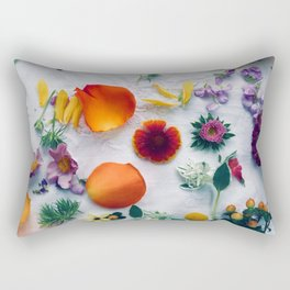Assorted Flowers Rectangular Pillow