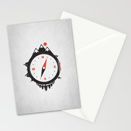 Adventure Compass Stationery Cards