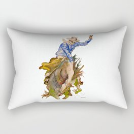 Ride em Cowboy by Peter Melonas Rectangular Pillow