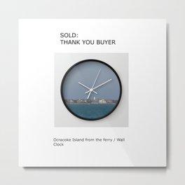 sold: wall clock: thank you Metal Print