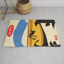 Japan vintage  travel poster. Rug
