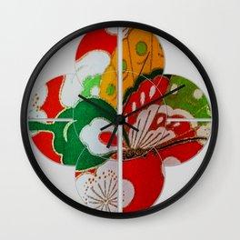 A Garden Girls' Day Kimono Wall Clock