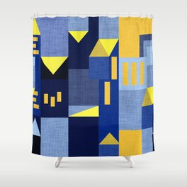 Blue Klee houses Shower Curtain