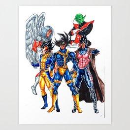 Z fighters crossover xmen Art Print