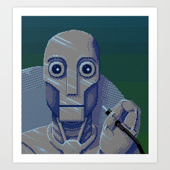 Pixelbot Art Print