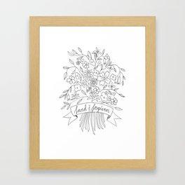 Loved & Forgiven Framed Art Print