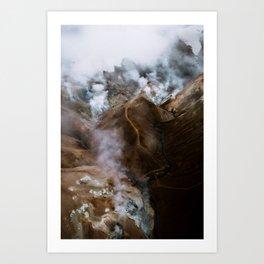 Kerlingarfjöll mountain range in Iceland - Aerial Landscape Photography Art Print