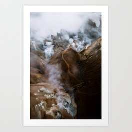 Kerlingarfjöll mountain range in Iceland - Aerial Landscape Photography Kunstdrucke