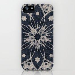 MANDALA BLUE BOHEMIAN GEOMETRIC ABSTRACT iPhone Case