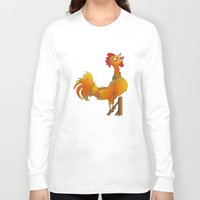rooster Long Sleeve T-shirts featuring Rooster  by mailboxdisco