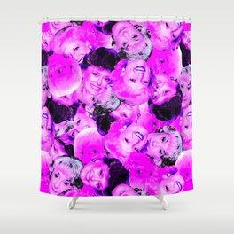 Golden Girls Toss in Electric Pop Pink Shower Curtain