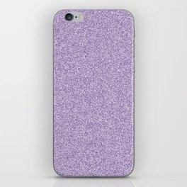 Melange - White and Dark Lavender Violet iPhone Skin