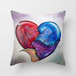 Broken Hearted by Joy Michelle Throw Pillow