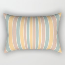 Warped Stripes - Vintage Pastel Colors Rectangular Pillow