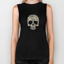 Floral  Skull Biker Tank