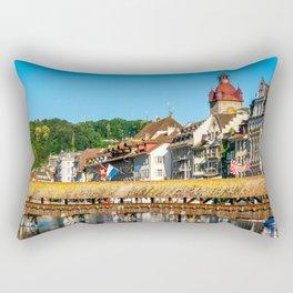 Lucerne old town skyline Rectangular Pillow