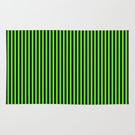 Striped black and light green background Rug
