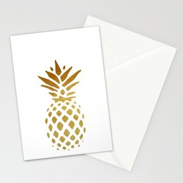 Golden Pineapple Stationery Cards