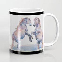 Fighting Stallions Wild Horse Coffee Mug