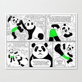Spandex Panda - Comic 1 - Home to Mom Canvas Print