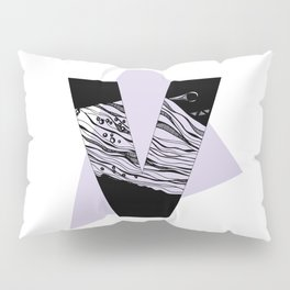 The letter V Pillow Sham