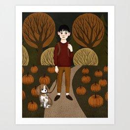 pumpkin boy Art Print
