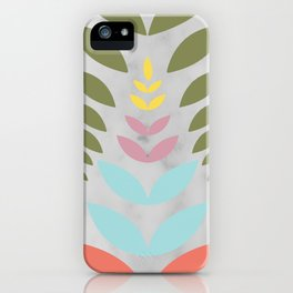 under the sea floral pattern iPhone Case