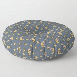 Doodle Moon Pattern Floor Pillow