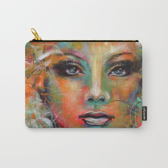 Little Colorgirl Original Painting Carry-All Pouch