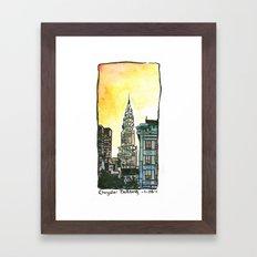 Chrysler Building - New York Framed Art Print