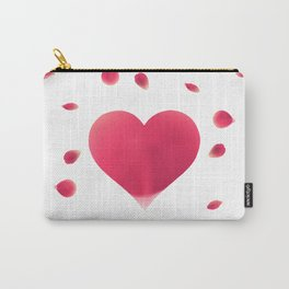 Rose Petal Heart Carry-All Pouch