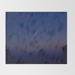 Monument Valley Star Trails Throw Blanket