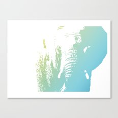 Elephant in Blue Canvas Print