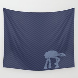 Chevrons AT in Navy Wall Tapestry