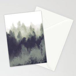 Mountain Forest Abstract Stationery Cards