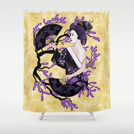 Black & Purple Shower Curtain