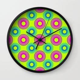Psichedelic Circles II Wall Clock