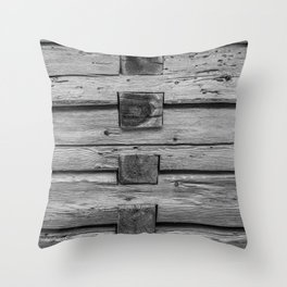 wood wall texture as background Throw Pillow