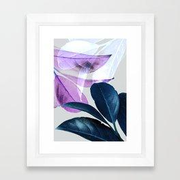 Blue Violet Leaves Framed Art Print