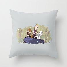 Chunk and Sloth Throw Pillow