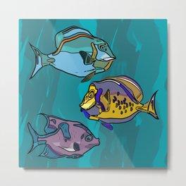 Fish of Surrealism Metal Print
