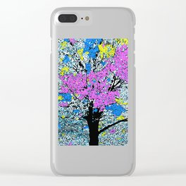 TREE SO PRETTY Clear iPhone Case
