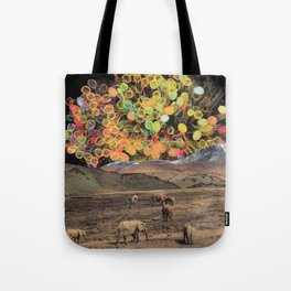 Lollypop Sky Show for the Elephants Tote Bag