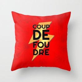 Coup de Foudre / Red Throw Pillow