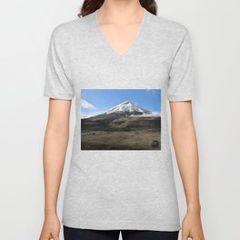 Cotopaxi volcano Unisex V-Neck