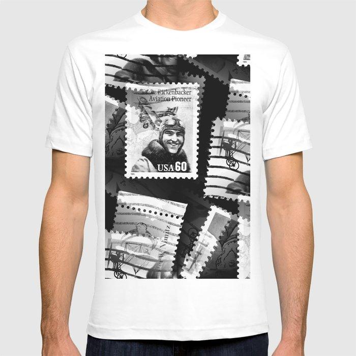 e116808d Nostalgic Stamps In Black And White #decor #society6 #homedecor T-shirt by  pivivikstrm | Society6