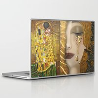 gustav klimt Laptop & iPad Skins featuring My Klimt Serie:Gold by Müge Başak