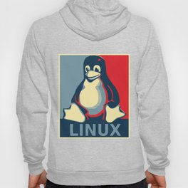 Linux Tux classic Obama poster Hoody