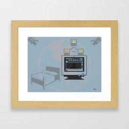 Web Cam World Framed Art Print
