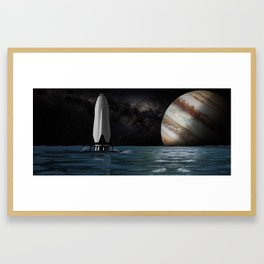 SpaceX, Interplanetary Transport System Framed Art Print